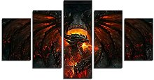 YspgArt66 Print Painting Canvas, 5 Pieces World of
