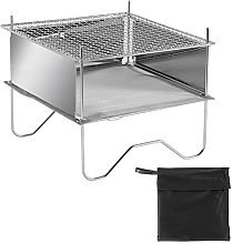 YSSClOTH Folding Campfire Grill, Portable Charcoal