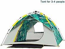 yssjs Tent Waterproof tent Pop Up Tent 3-4 Man