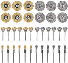 YSTCAN 36pcs Steel Wire Brush Wheel Wire Brushes