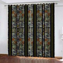 YTHSFQ Blackout curtain 3D print Abstract style