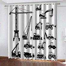 YTHSFQ Blackout curtain 3D print Heavy truck