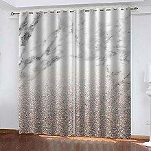 YTHSFQ Blackout curtain 3D print marble W66 x H90