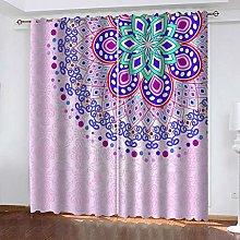 YTHSFQ Blackout curtain 3D print Purple pattern