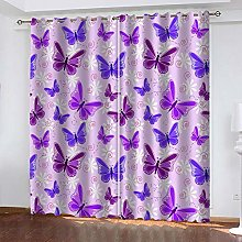 YTHSFQ Blackout Curtains 2 Panels Butterfly W46 x