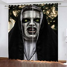 YTHSFQ Blackout Curtains 2 Panels Horror witch W66
