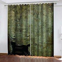 YTHSFQ Blackout Curtains 2 Panels Vintage