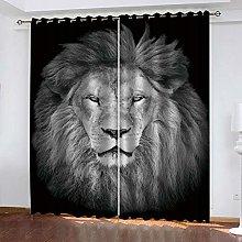 YTHSFQ Window curtain Animal lion W43 x H85 inch
