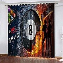 YTHSFQ Window curtain billiards W29.5 x H65.3 inch