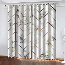 YTHSFQ Window curtain marble W43 x H85 inch Eyelet
