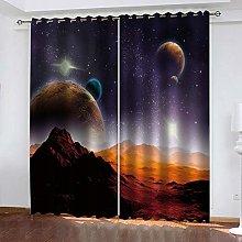 YTHSFQ Window curtain Starry Hill W46 x H54 inch