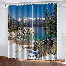 YTHSFQ Window curtain Trees and lakes W66 x H72