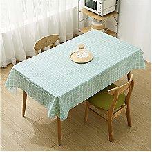 YTNGYTNG Tablecloth White Plaid Tablecloth