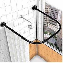 YTREDF U Shaped Bathroom Shower Curtain Rod Pole,