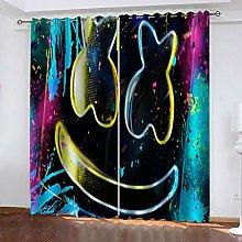 YTSDBB Darkening Curtain for Living Room Colorful
