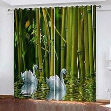 YTSDBB Darkening Curtain for Living Room Green