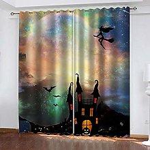YTSDBB Darkening Curtain for Living Room Halloween