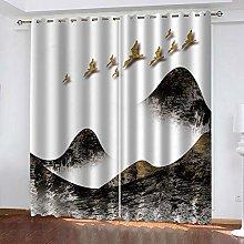 YTSDBB Darkening Curtain for Living Room Ink and