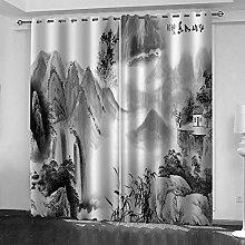 YTSDBB Darkening Curtain for Living Room Ink