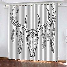 YTSDBB Darkening Curtain for Living Room Sketch