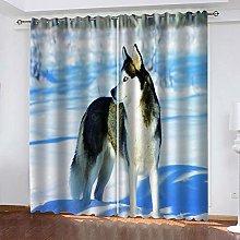 YTSDBB Darkening Curtain for Living Room Snow