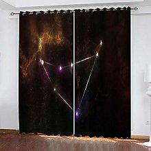 YTSDBB Darkening Curtain for Living Room Starry