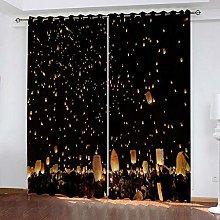 YTSDBB Darkening Curtain for Living Room Wishing