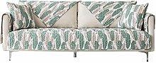 YTSM Sofa Covers 3 Seater,Cotton fabric non-slip