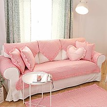 YTSM Sofa Slipcovers 3 Seater,Cotton Plaid Pattern