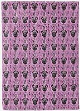 YTTBH Fleece Blanket Soft Cozy 3D Purple animal