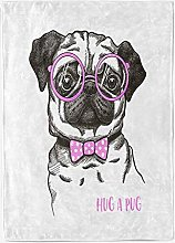 YTTBH Sofa Blanket Cartoon purple animal dog 51x60