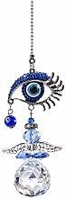 YU FENG Hanging Crystal Angel Suncatcher Blue Evil