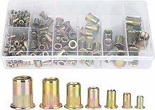 YUAN CHUANG 165Pcs M3/M4/M5/M6/M8/M10/M12 Copper