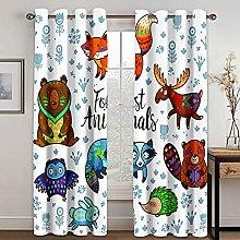 YUANCHENG Animal Cartoon Printing Curtain Is