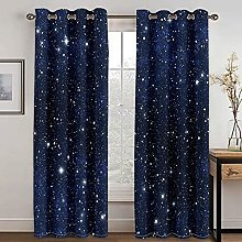 YUANCHENG Bedroom Star Print Shading Curtain Is