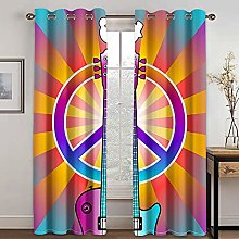 YUANCHENG Color Curtain Striped Printing Curtain