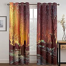 YUANCHENG Curtain Cat Oil Painting Printing