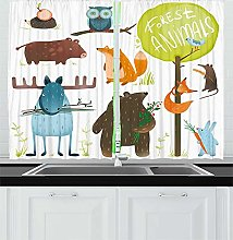 YUANCHENG Home Curtain Forest cartoon animal child