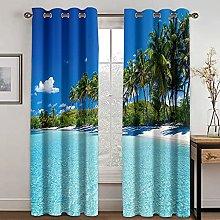 YUANCHENG Landscape Printing Curtain Is Suitable