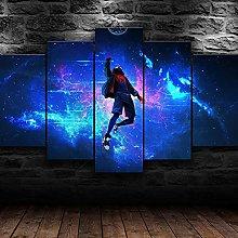 YUANJUN 5 Panel Canvas Wall Art Print HD Home