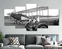 YUANJUN 5 Panel Historic Car Monoplane Canvas