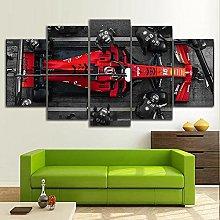 YUANJUN 5 Piece Canvas Wall Art Cars Print Home