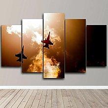 YUANJUN 5 Piece Canvas Wall Art HD Print Home