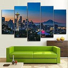 YUANJUN 5 Piece Canvas Wall Art Painti HD print