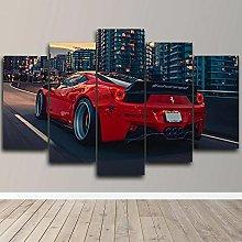 YUANJUN 620 Hyper Sports Car 5 Piece Canvas Wall