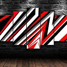 YUANJUN Abstract Geometric Design5 Parts Modern