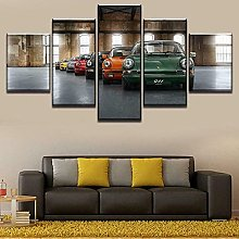 YUANJUN Classic Framed 5 Piece Canvas Wall Art