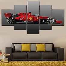 YUANJUN Formula 1 Racing Car 5 Piece Canvas Wall