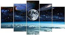 YUANJUN Framed 5 Piece Canvas HD Print Home Decor