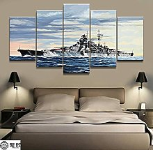 YUANJUN Framed 5 Piece Canvas Wall Art Painting